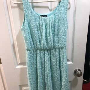 Short Long Mint Dress
